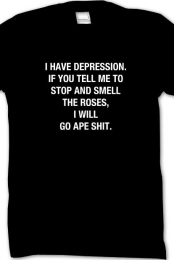 DEPRESSION SHIRT BLACK