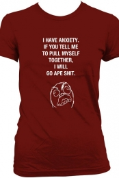 ANXIETY SHIRT RED