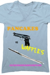 Pancakes vs. Waffles V-Neck
