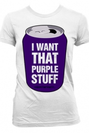 PURPLE STUFF (Girls White)