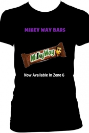 ''Mikey Way Bars'' Black Tee Women