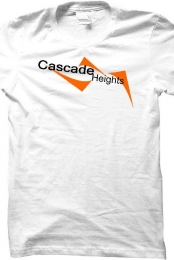 Cascade Heights Men's White T-Shirt