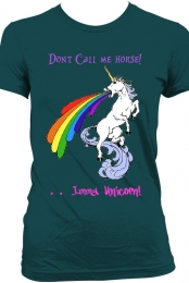 ''Don't Call Me Horse Imma Unicorn'' Dark Blue Tee Women