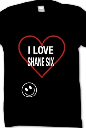I Love Shane Six Black