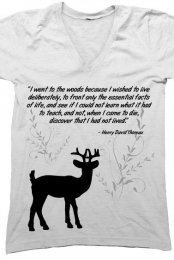 Thoreau Quote V-neck