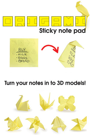 Origami Sticky Notes Office Geeky Gifts Office Online Store On