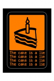 The cake is a lie Sticker