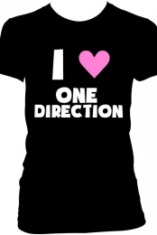 One Direction Heart T-Shirt - Black