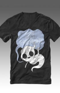 Ghost V-Neck (Black)