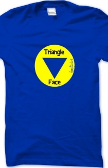 Triangle face t-shirt 2