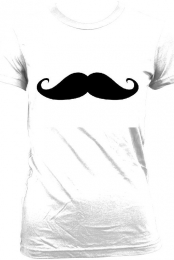 White Moustache T-shirt