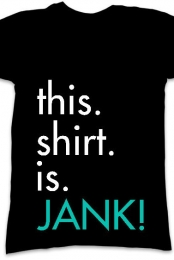 Jank Shirt (Black V-Neck)