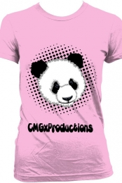 CMGxProductions Ladies Panda T-Shirt