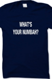 whats your numbah (navy blue)
