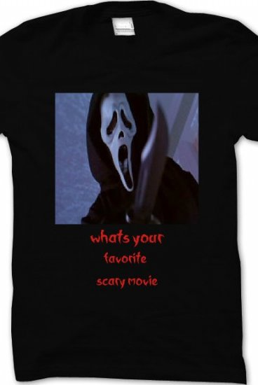 Your Favorite Celebs Exposed: Whats Your Favorite Scary Movie Scream Shirt T-shirt