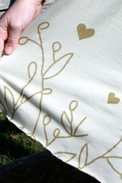 Gold Flora Scarf