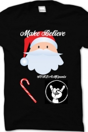 Christmas Make Believe T-shirt for Men Black