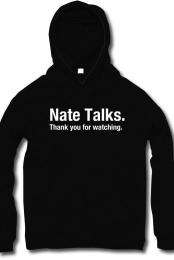 Nate Talks Title Screen Hoodie