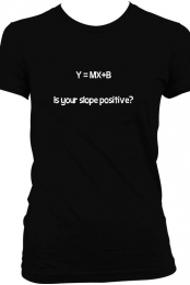 Y=MX+B Womans T-Shirt