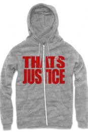 That�s Justice Zip Up Hoodie (Heather Grey)