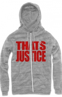 That's Justice Zip Up Hoodie (Heather Grey)