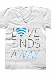 Love Finds A Way (White V-Neck)