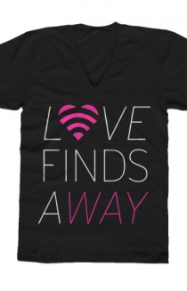 Love Finds A Way (Black V-Neck)