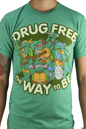 0fe4b26bc Drug Free T-Shirt - Teenage Mutant Ninja Turtles T-Shirts - Online Store on  District Lines