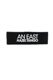 Headband w/ White Embroidery (Black)