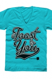Project Toasty V-Neck (Turquoise)
