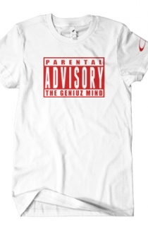 Parental Advisory (Red on White)