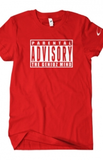 Parental Advisory (White on Red)