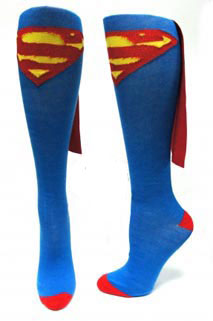 Superman Caped Knee Highs