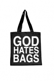 God Hates Bags Tote Bag (Black)