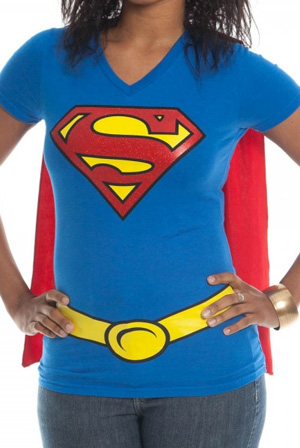 Superman Girls Cape V-Neck