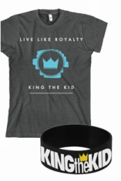 Live Like Royalty (Charcoal) + Wristband