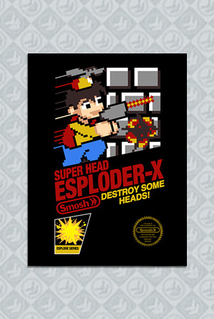 8-Bit Billy Poster + Poster Tube