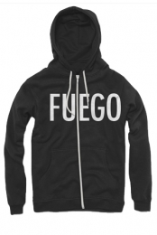 Fuego Zip-Up Hoodie (Black)