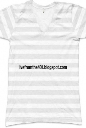 livefromthe401 striped V-Neck tshirt