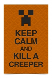 Keep Calm and Kill a Creeper (Orange)