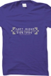 Left Side, Right Side Purple Shirt