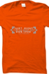 Left Side, Right Side Orange Shirt