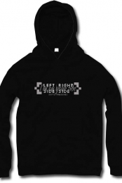 Left Side, Right Side Black Hoodie