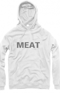 Meat Hooded Jumper - In WHITE!