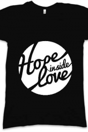 Hope Inside Love Black Logo V-Neck