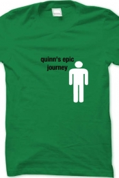 quinns epic journey t-shirt