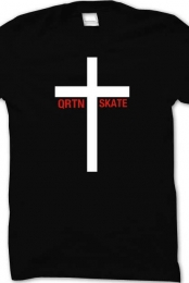 QRTN SKATE - Crucifix Love (Black)