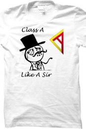 Like a Sir Tee - White