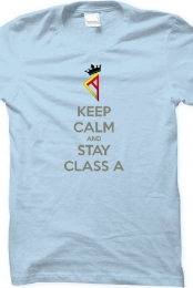 Keep Calm and Stay Class A Tee - Light Blue