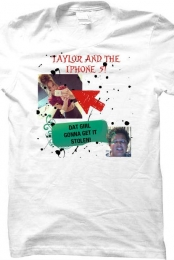 TAYLOR AND THE IPHONE 5 T-SHIRT